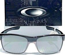 NEW* Oakley TWO FACE BLACK Chrome w Black Iridium POLARIZED Sunglass 9189-01