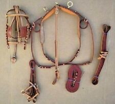 New Tan Color Miniature Size Horse Driving Harness with Brass Fittings Complete