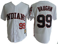 Rick Wild Thing Vaughn 99 Jersey Major League Costume Movie White Uniform Gift