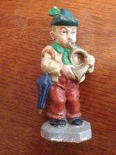 French Horn Player Sonneberger Friedel German ceramic figurine musician Vintage