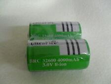 2x UltraFire CREE XML BRC 32600 batería 4000 mah 3,0 voltios de iones de litio