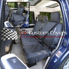 LAND ROVER DISCOVERY 4 - 2016 TAILORED & WATERPROOF REAR SEAT COVERS BLACK 157