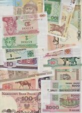 PROMO lot 21 billets banknote Europe Est neuf UNC Pologne Biélorussie Ukraine