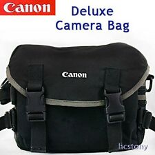 Padded CANON 2200 Deluxe Camera Bag BLACK w/GRAY Accent; Film~Digital SLR~EXLNT!
