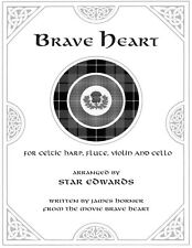 Brave Heart Quartet Sheet Music for Celtic Harp, Flute, Violin and Cello
