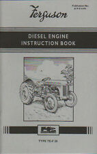 "Ferguson TE-20 ""Diesel"" Tractor Instruction Manual Book"