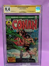 Conan the Barbarian #37 CGC 9.4 SS Signed by Neal Adams