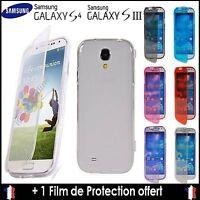Coque Etui Housse gel Silicone Souple rabat clapet pour Samsung Galaxy S3 et S4