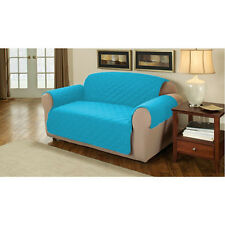 Turquoise Quilted Cotton 1 Seater Armchair Sofa Furniture Protector Slipcover