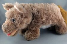 Schuco Germany Wolf Dog Dralon Plush 30cm 12in c1950s Glass Realistic Eyes no ID