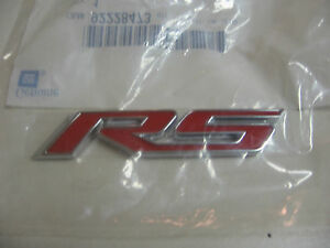 2010-2013 CHEVROLET CAMARO COUPE RS REAR TRUNK RED EMBLEM 92228473
