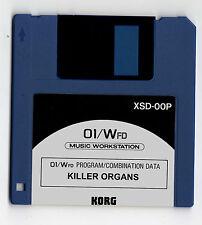 KORG 01w 01/w FD / Pro / ProX ~ KILLER ORGANS  - FLOPPY DISKETTE