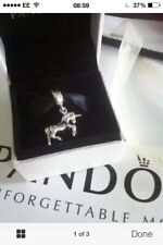 PANDORA Unicorn  Charm with Gold Horn . Genuine Silver S925 /ALE.