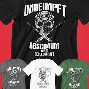 UNGEIMPFT Abschaum der Gesellschaft Herren Shirt T-Shirt| Impfgegner  #UADG1