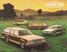 Ford Station Wagons 1979 USA Market Sales Brochure Pinto Fairmont LTD Club
