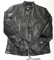 TIGHA Herren Biker Lederjacke Paddy Black Sheep Leather Gr. L UVP 299€