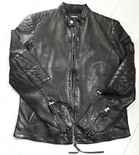 TIGHA Herren Biker Lederjacke Paddy Black Sheep Leather Gr. M UVP 299€