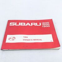 Subaru 1300 1600 1800 Original Owner's Manual 1984 Good Condition
