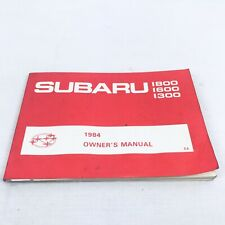 Subaru 1300 1600 1800 Original Owner's Manual 1984 Car Automotive