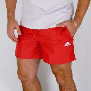 Adidas Men's Shorts Sports Pants Fitness Training Tennis Running Red [ S-XXL ]