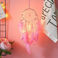 Handmade Dream Catcher with feather night light wall car hanging decor ornament