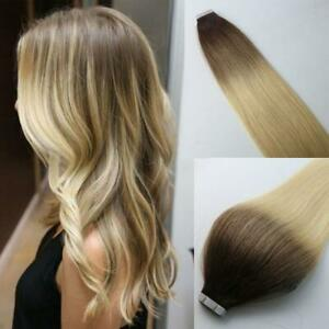 12A RUSSIAN TAPE IN HAIR Extensions 3#/613#  BALAYAGE OMBRE 40Pcs 100g STRAIGHT