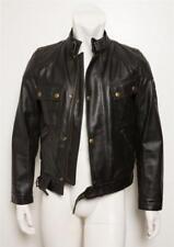 BELSTAFF Mens PURE MOTORCYCLE Black Heavy Thick Leather Biker Moto Jacket S NEW