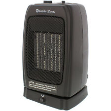Comfort Zone Portable Electric Ceramic Oscillating Indoor Space Heater(Open Box)