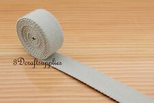 5 yards 1 inch polyester-mixed cotton webbing key fob strap light gray ZB46