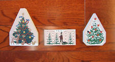 3 Cats Meow Village Christmas Accessories-Christmas Tree Lot & 2 Christmas Trees