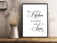 INSPIRATIONAL MOTIVATIONAL POSITIVE KITCHEN LOVE QUOTE A4 POSTER PRINT WALL ART
