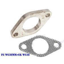 Mild Steel 2 Bolt Flange+Gasket for 35/38mm External Wastegate Dump Tube/Pipe