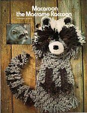 Macrame Raccoon Pattern - Craft Book: #7122 Animal Art Vol. Ii