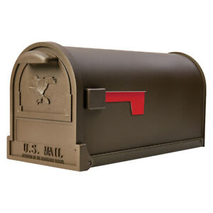 Venetian Bronze Galvanized Steel Post Mount Mailbox Powder Coated Large Capacity