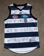 2009 GEELONG CATS PREMIERSHIP PREMIERS SIGNED JUMPER 22 + COACH - ABLETT SELWOOD