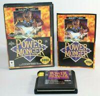 Power Monger Sega Genesis Complete In Box CIB Authentic & Tested! Good Shape!