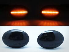 SET LED SMD Side Marker Blinker Black Smoke For Fiat 500 500L Lancia Ypsilon SB2