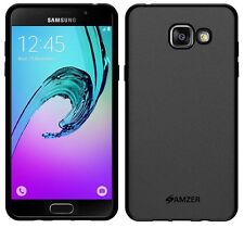 AMZER Black Pudding Matte TPU Case Back Cover For Samsung GALAXY A5 2016 SM-A510