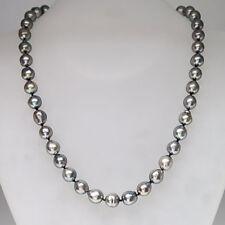Perlenkette Collier Tahiti-Zuchtperlen ca. Ø 8,0 mm - 9,5 mm in 585/14K Gelbgold