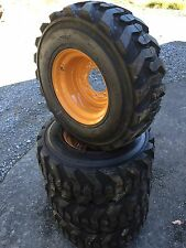 4 NEW 12-16.5 Deestone Skid Steer Tires & Rims for Case 1845C  - 12X16.5