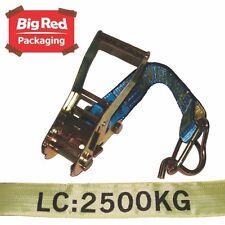 4x Beaver 2500kg 50mm x 9m Ratchet Strap Set Tie Down Utes Trucks Load Restraint