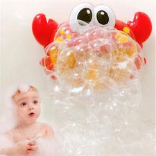 Crab Bubble Maker Automated Spout Bubble Machine Bath Shower Kids Fun Toy & box