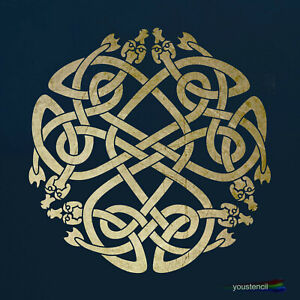 Celtic Knot Stencil, Large, for Walls, Art and Furniture.   ST3L