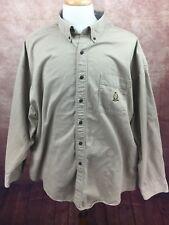 Vintage Chaps Ralph Lauren Long Sleeve Shirt Brushed Cotton Tan Men's XXL