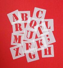 ABC Schriftschablonen 5cm hoch Set 30 einzelne Schablonen Buchstaben und Zeichen
