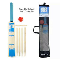 PowerPlay Juniors Beginners Deluxe Size 3 Cricket Set Kids Outdoor Sports Kit