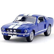 Kinsmart 1967 Shelby GT 500 Diecast Car 1:38 KT5372D Blue with White Stripes