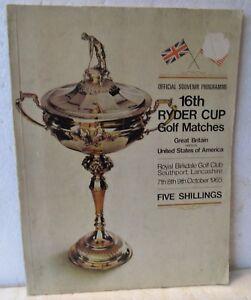 1965 RYDER CUP PROGRAM-ROYAL BIRKDALE G. C.  PALMER, CASPER, LEMA, VENTURI.....