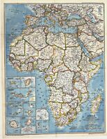 ⫸ 1980-2 Africa, It's Political Development – National Geographic Map Poster