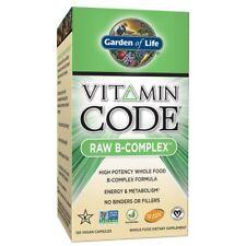 Vitamin B Raw B Complex Garden of Life Vitamin Code Whole Food Vegan 120 Caps